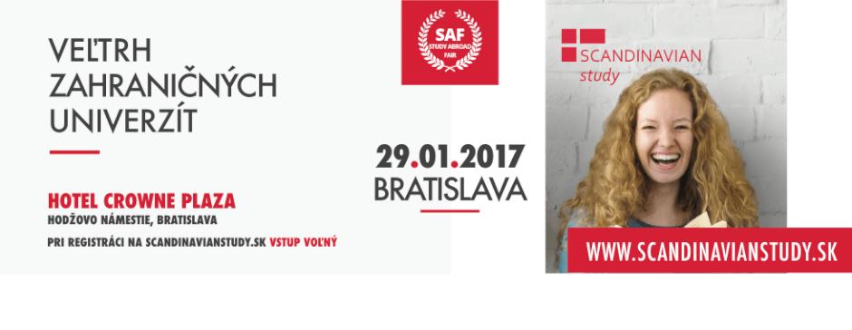 Veltrh zahranicnych univerzit SAF 2017 so Scandinavian study