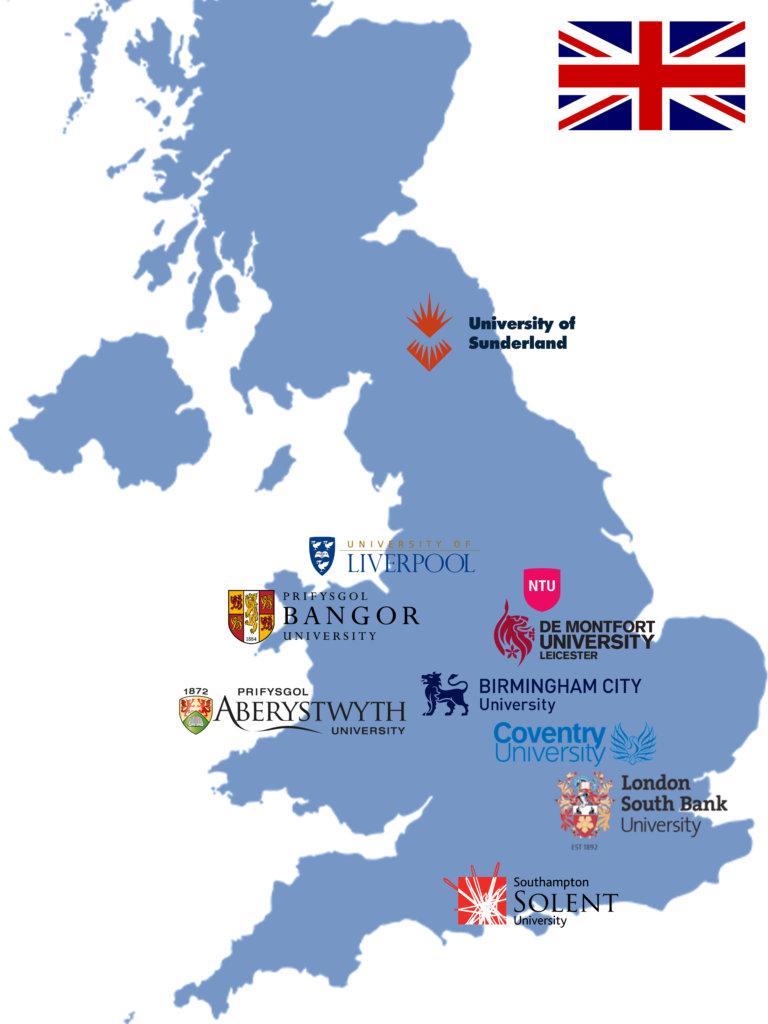 Štúdium v UK mapa